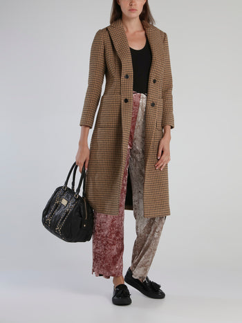 Light Brown Classic Check Coat