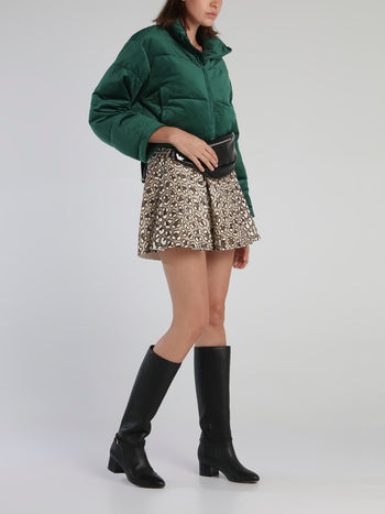Green Oversized Goosedown Short Jacket