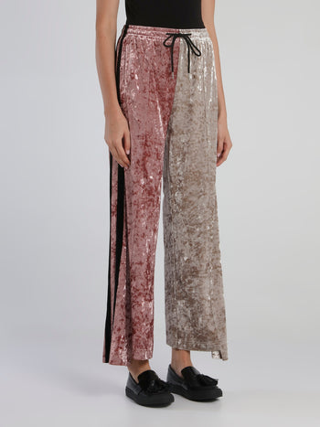 Asymmetric Colour Combinated Lounge Pants