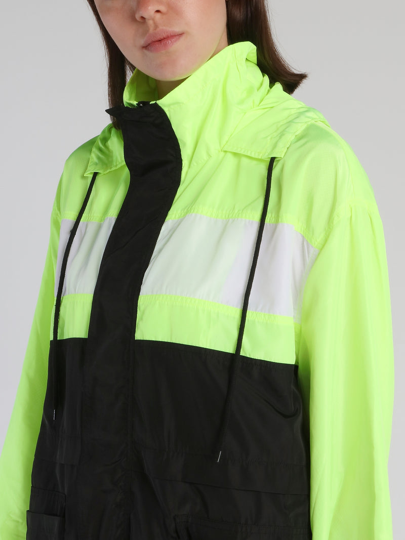 Colour Block Removable Panel Windbreaker