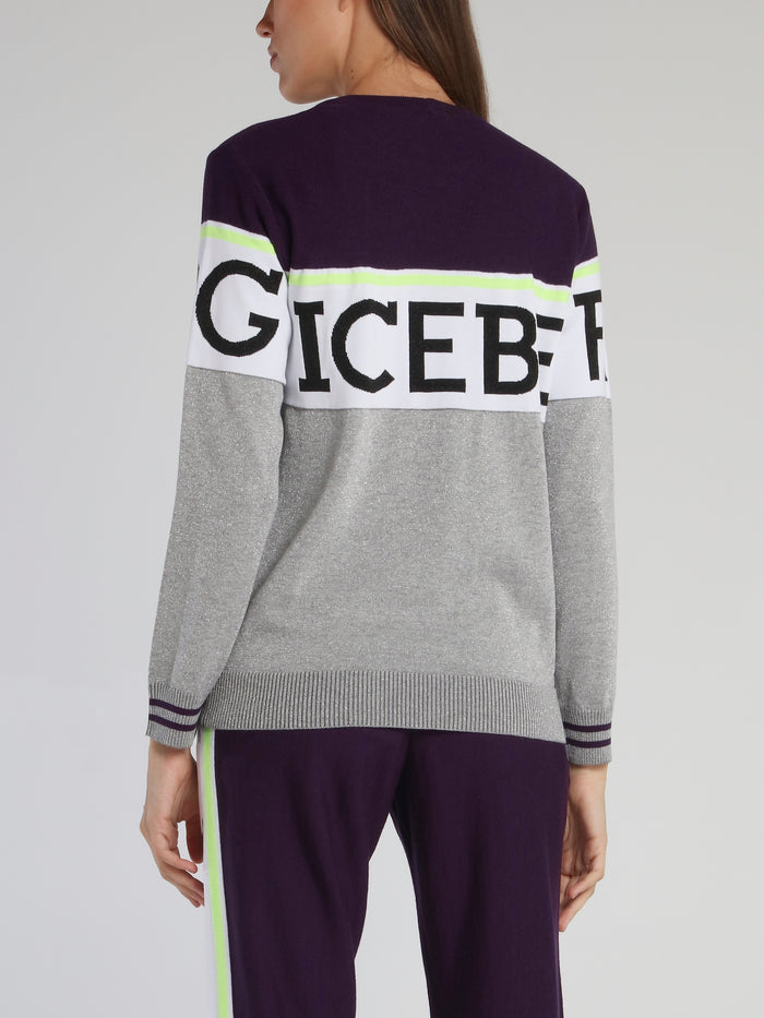Grey Logo Sweat Top