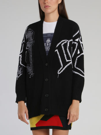 Mickey Mouse Black Contrast Cardigan