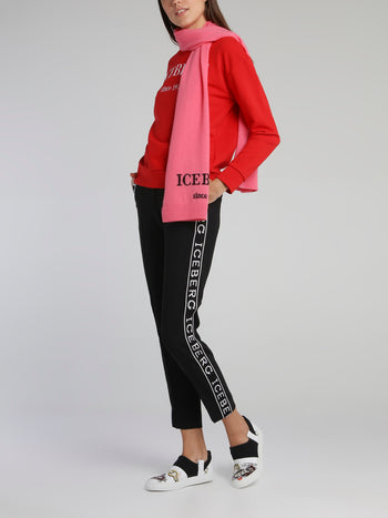Red Classic Embroidered Logo Sweatshirt