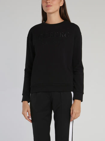 Black Classic Embroidered Logo Sweatshirt
