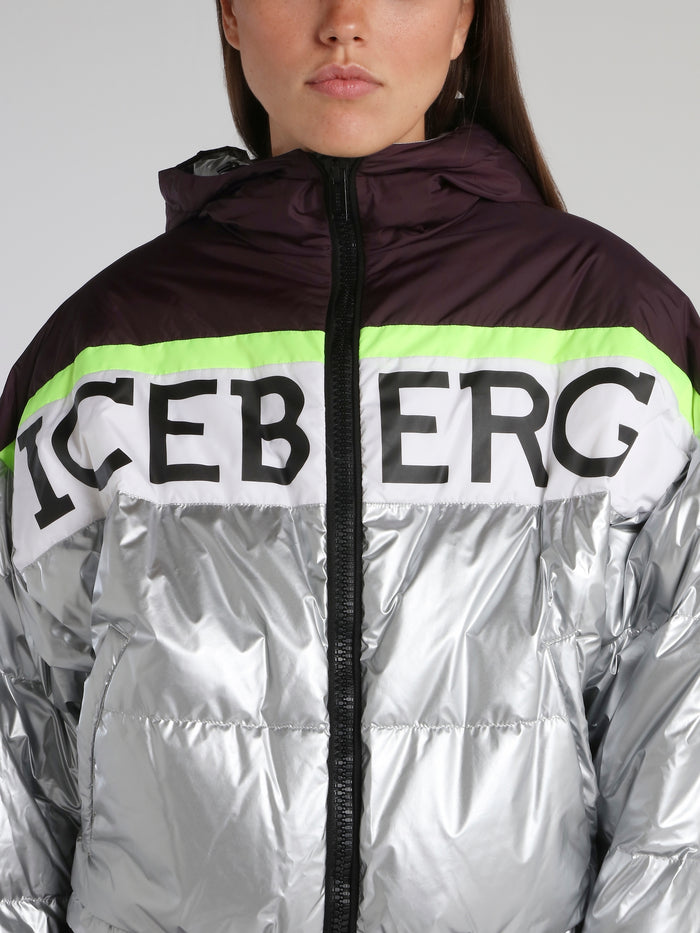 Metallic Logo Down Jacket