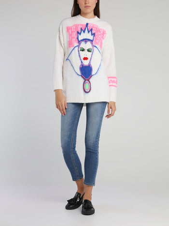 Disney Evil Queen White Knitted Sweater