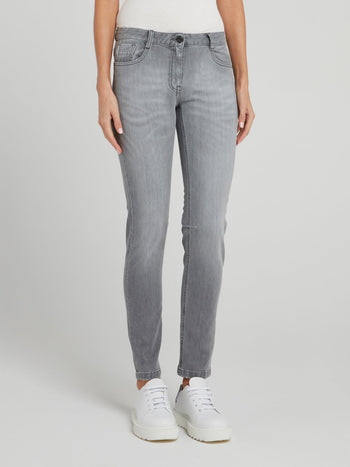 Grey Denim Skinny Jeans