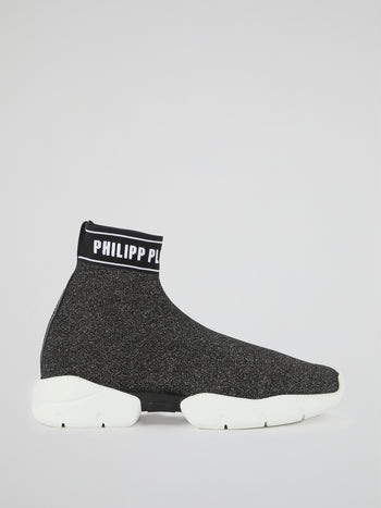 PP1978 Logo Trim Sock Sneakers