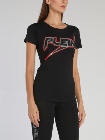 Space Plein Black Studded T-Shirt