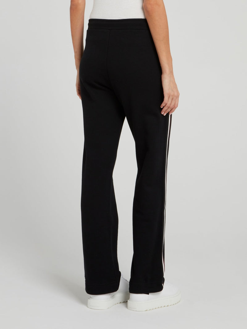 Black With Side Line Detail Active Pants