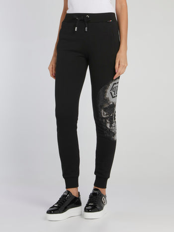 Black Crystal  Skull Active Trousers