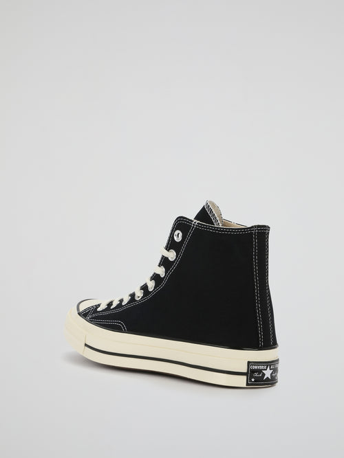 Black Chuck 70 Canvas High Top Sneakers