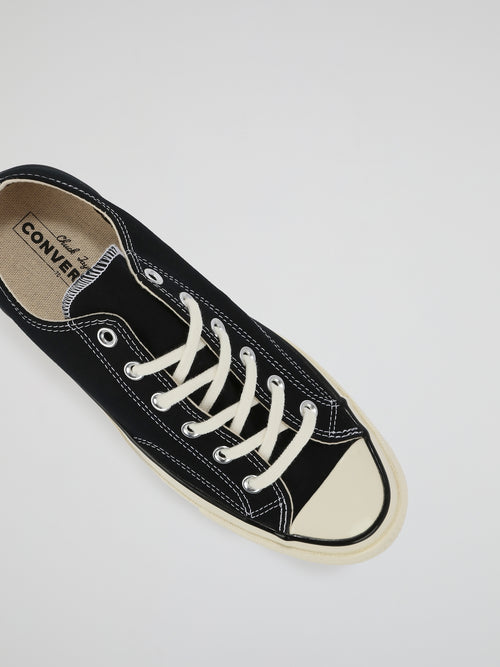 Black Chuck 70 Canvas Low Top Sneakers