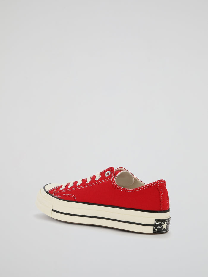 Red Chuck 70 Canvas Low Top Sneakers