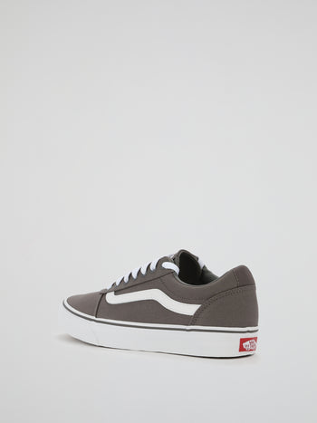 Grey Ward Lace Up Trainers