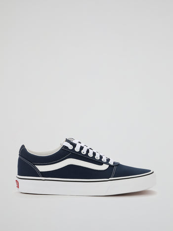 Navy Ward Lace Up Trainers