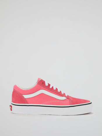 Pink Old Skool Lace Up Sneakers