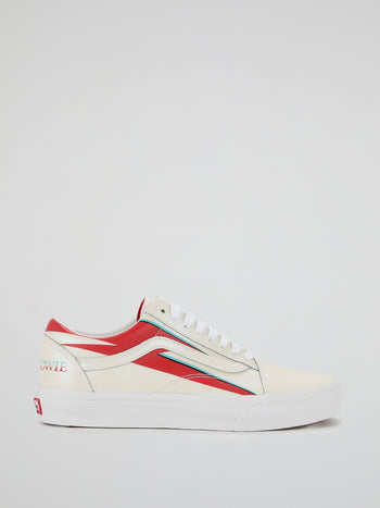 David Bowie Old Skool Lace Up Sneakers