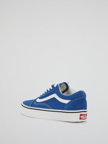Blue Old Skool Lace Up Sneakers