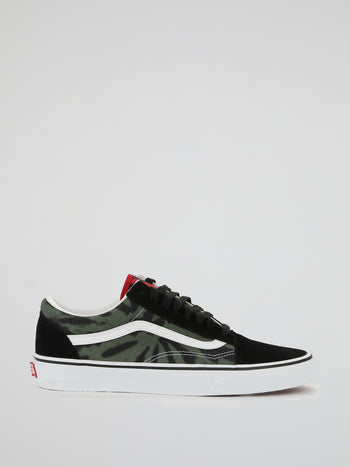 Tie Dye Old Skool Lace Up Sneakers