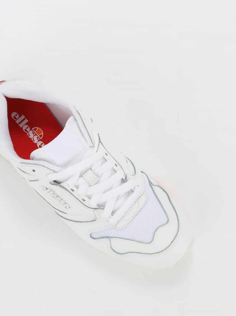 White Low Top Leather Trainers