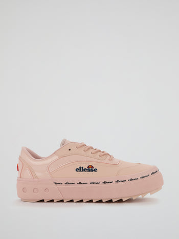 Alzina Pink Leather Trainers