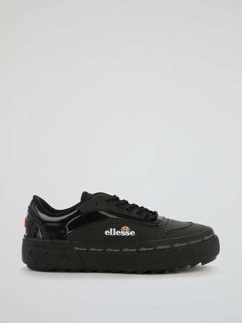 Alzina Black Leather Trainers