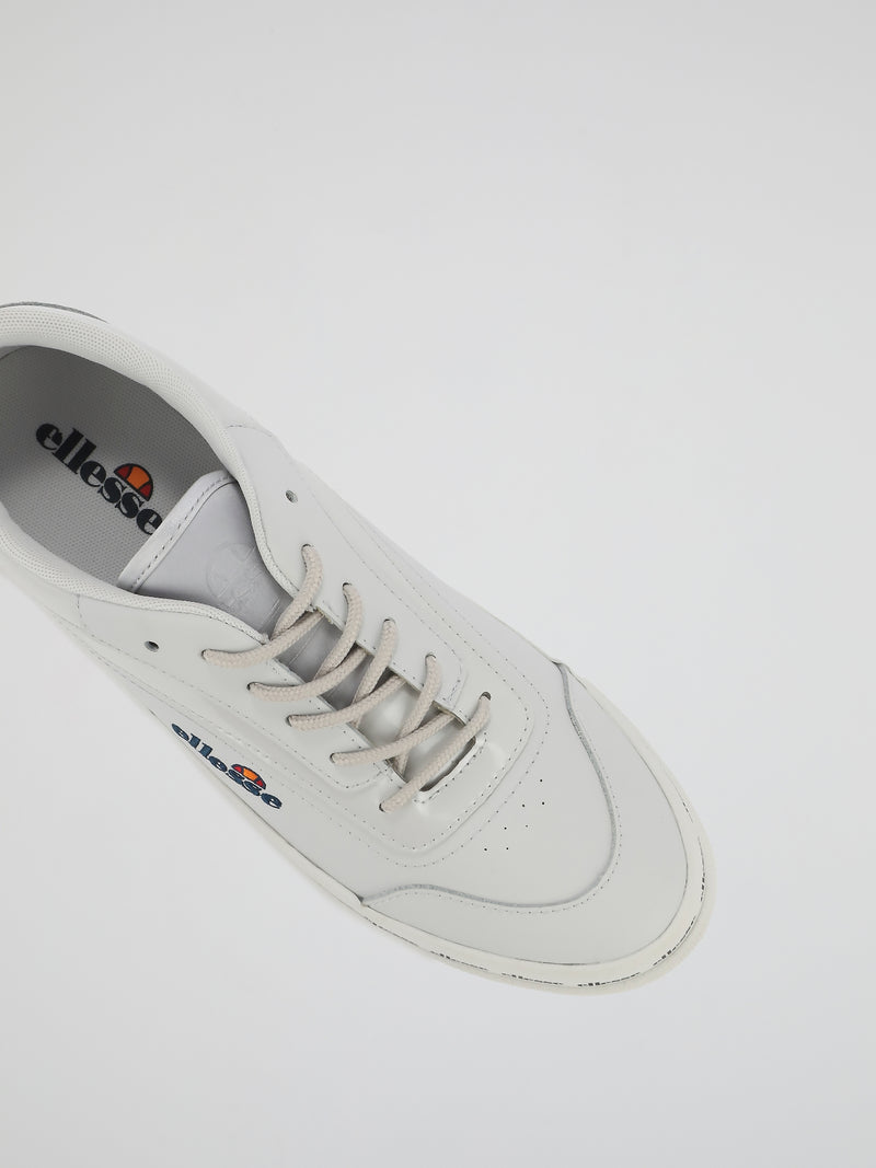 Alzina Grey Leather Trainers