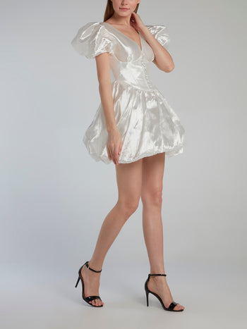 White Corset Bubble Dress
