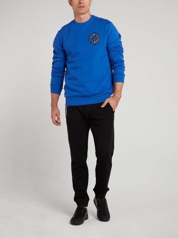 Blue Logo Appliquéd Sweatshirt