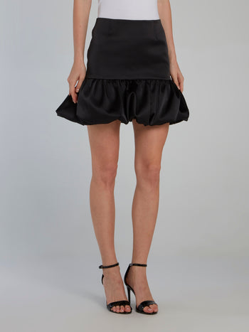 Black Trumpet Mini Skirt
