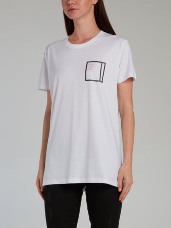 Faux Love Box Print White T-Shirt