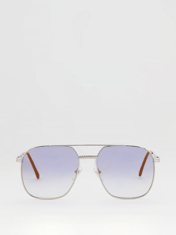 Lavender Gradient Aviator Sunglasses