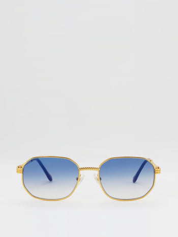 Navy Gradient Lens Sunglasses
