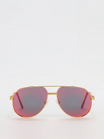 Multi-Flash Lens Aviator Sunglasses