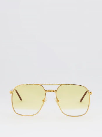 Yellow Gradient Aviator Sunglasses