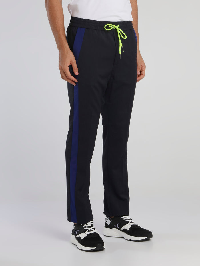 Navy Straight Cut Active Pants