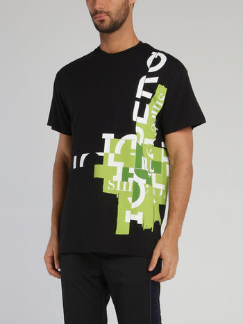 Black Mosaic Logo T-Shirt