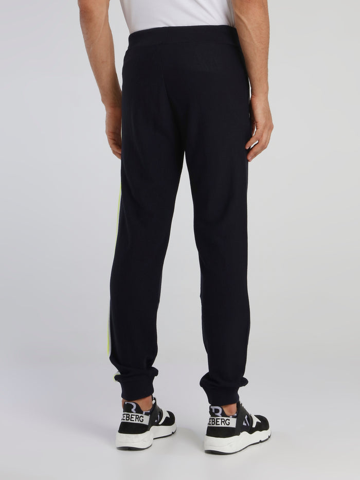 Navy Logo Knitted Trousers