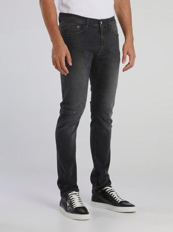 Black Faded Skinny Jeans