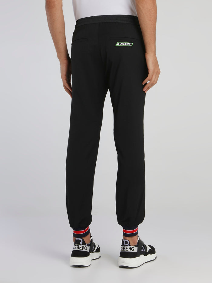 Black Cuffed Active Trousers