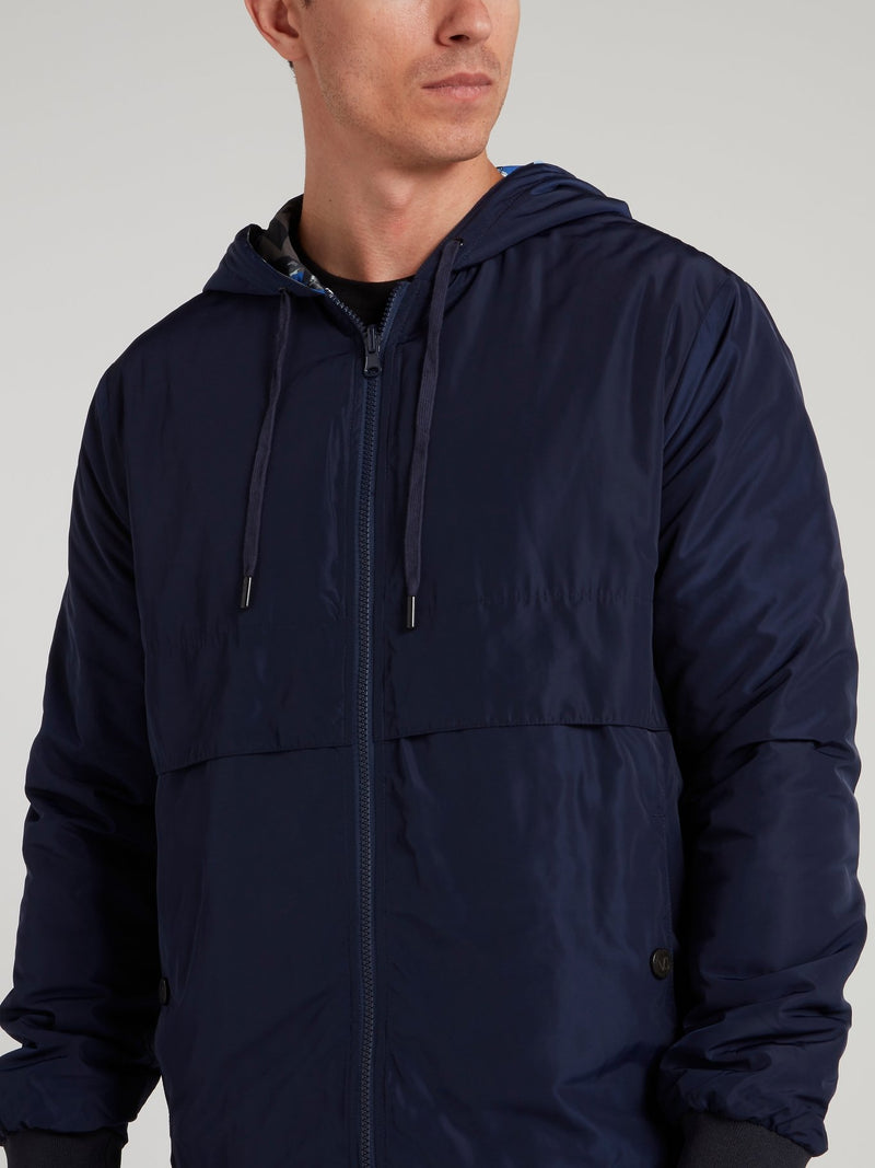 Navy Reversible Logo Jacket