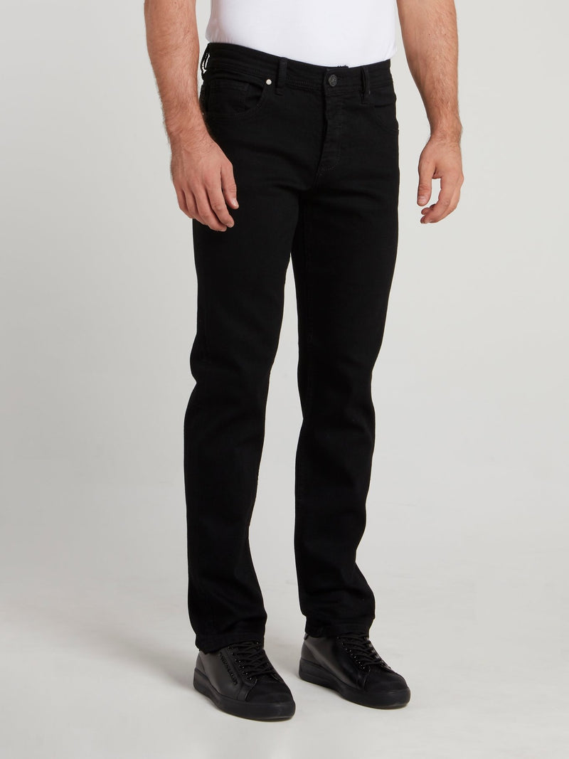 Black Straight Cut Trousers