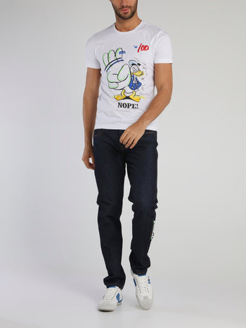 Donald Duck White Graffiti T-Shirt