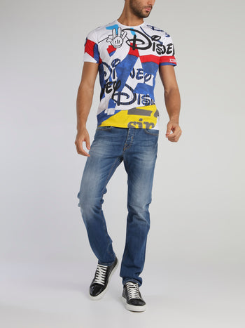 Disney Multicolour Abstract Print T-Shirt