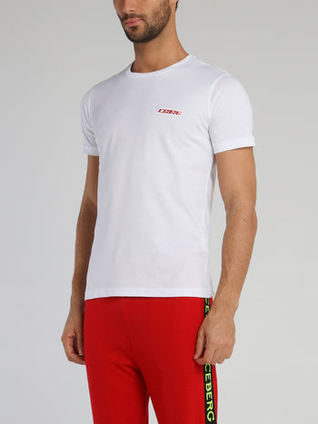 White T-Shirt With Small Logo