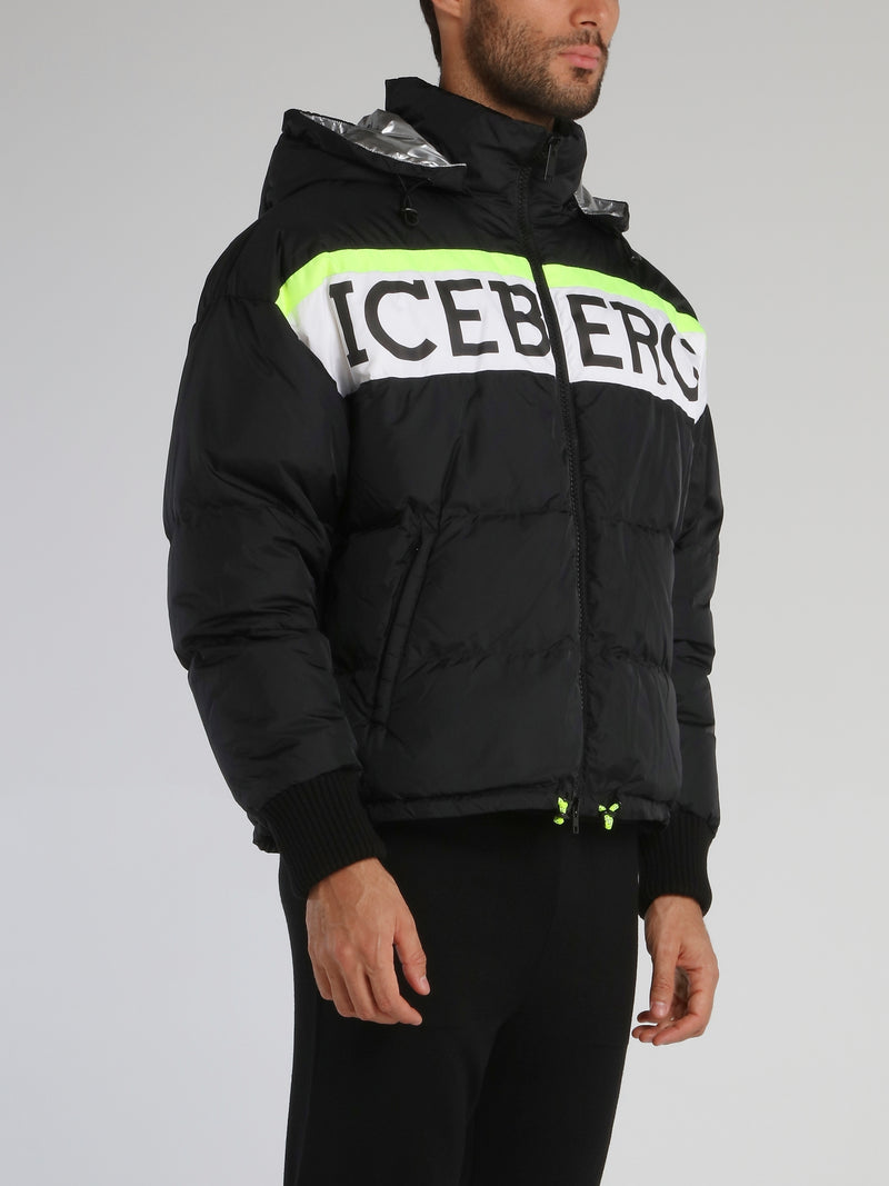 Black Logo Puffer Jacket