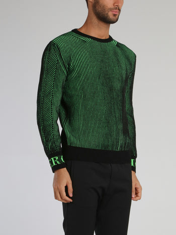 Green Braided Wool Jumper