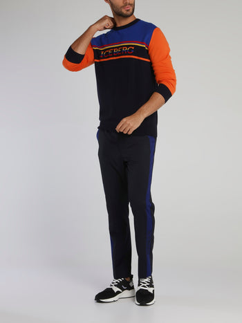 Colour Block Wool Sweat Top
