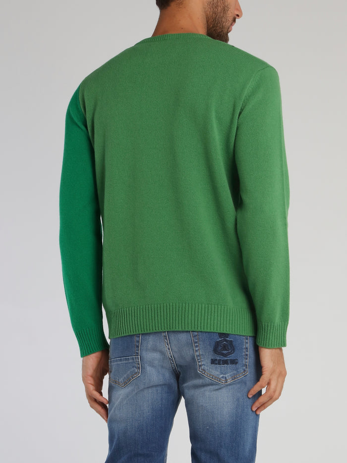 Disney Dopey Green Knitted Sweater